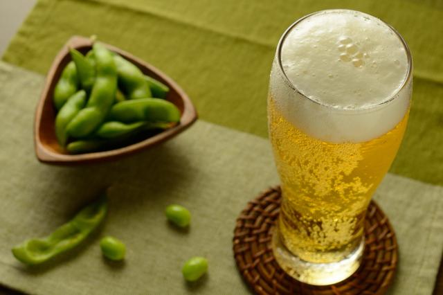 ビールと枝豆の黄金コンビ