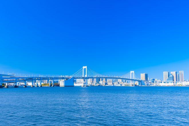 晴天の東京湾の景色