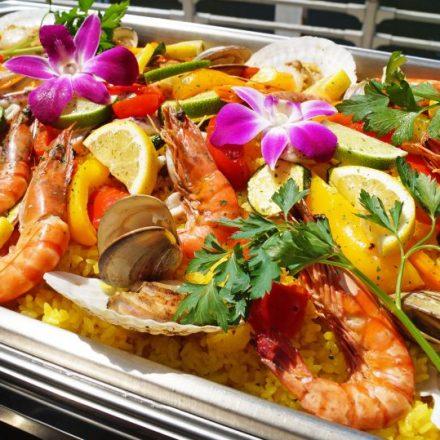Mediterranean-style paella