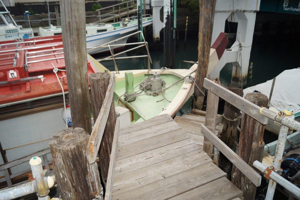 深川乗船所の屋形船への乗船経路