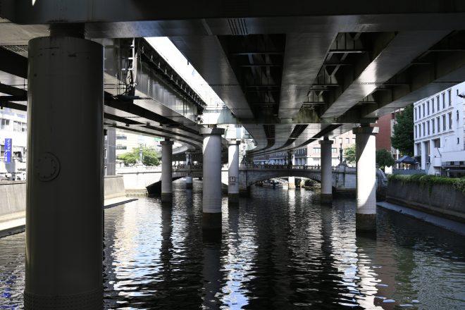 船から見る橋の下