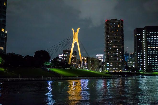 船の上から見える東京の夜景