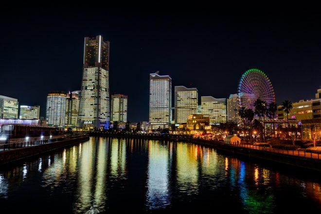横浜の有名な夜景