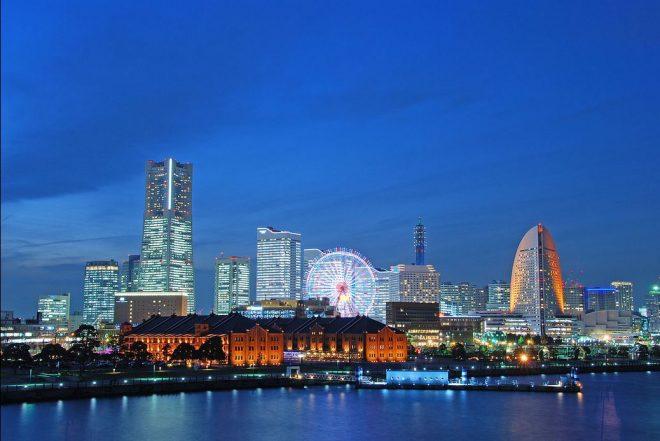 ロマンチックな横浜の夜景