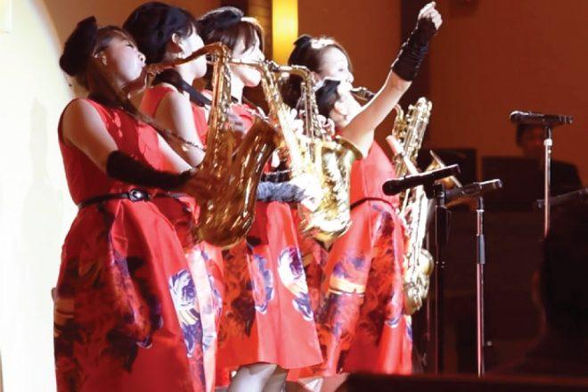 女性JAZZ演奏グループの演奏