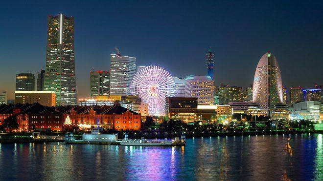 さまざまな色を放つ横浜の景色