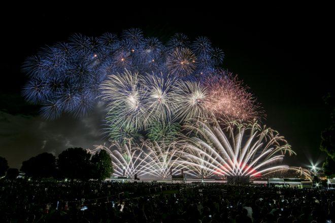 色鮮やかな花火が打ち上がる花火大会