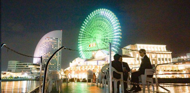 横浜港で船上ビアガーデン