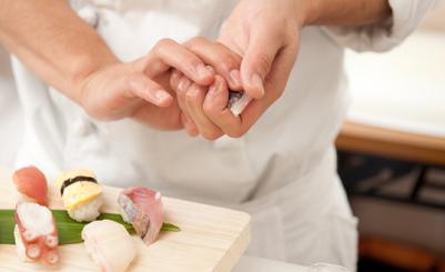 新鮮なネタを使った江戸前握り寿司