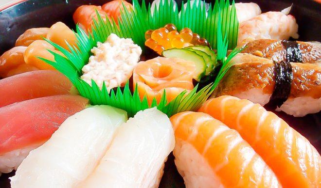サーモンやマグロなどのお寿司