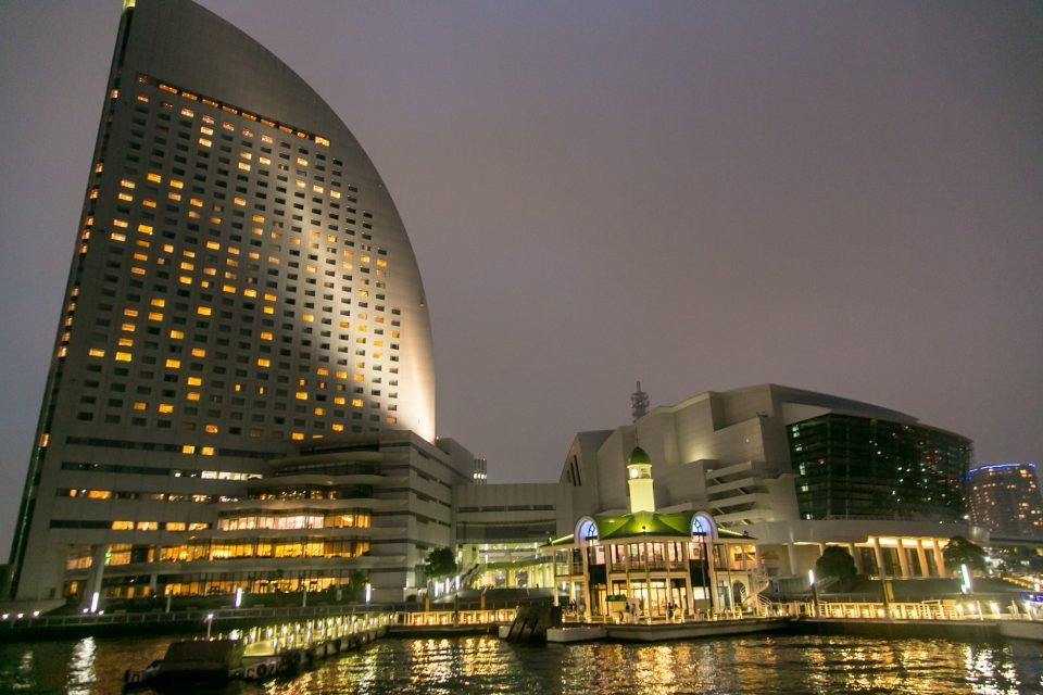 Minatomirai Pukari Pier observed from the sea