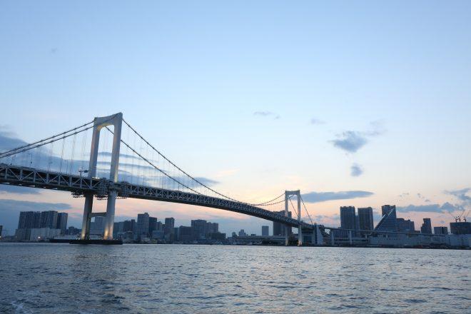 きれいな空と橋や街並み