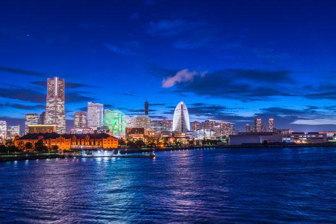 横浜港周辺の夜景