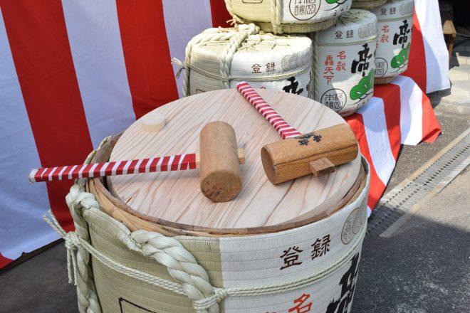 酒樽と木槌