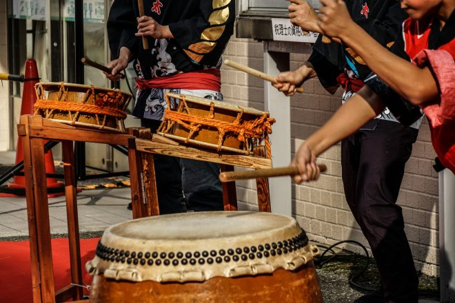 和太鼓の生演奏