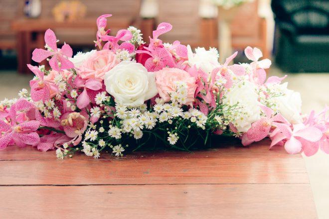 かわいらしい卓上花