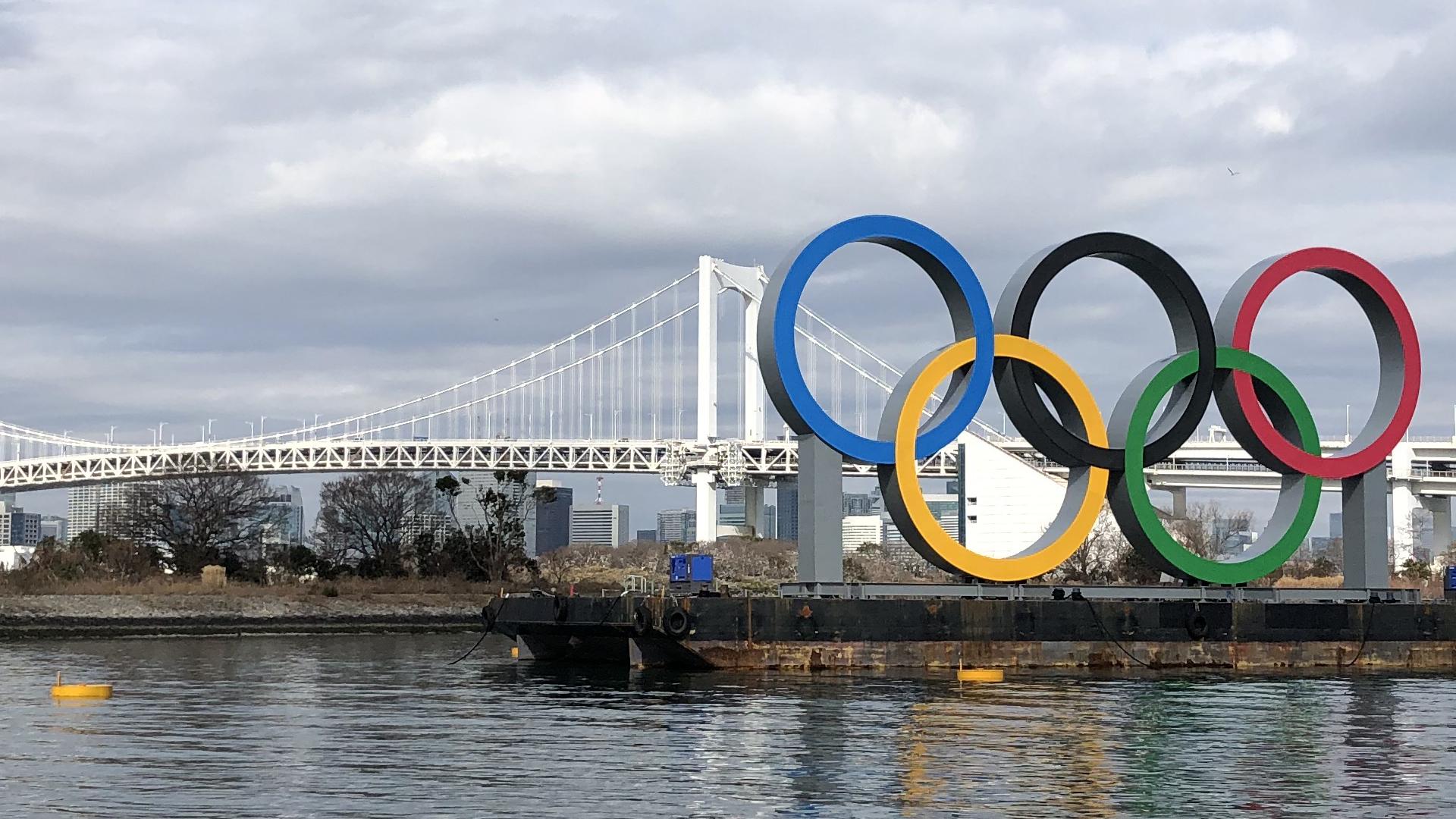遠いところから見えるオリンピックモニュメント