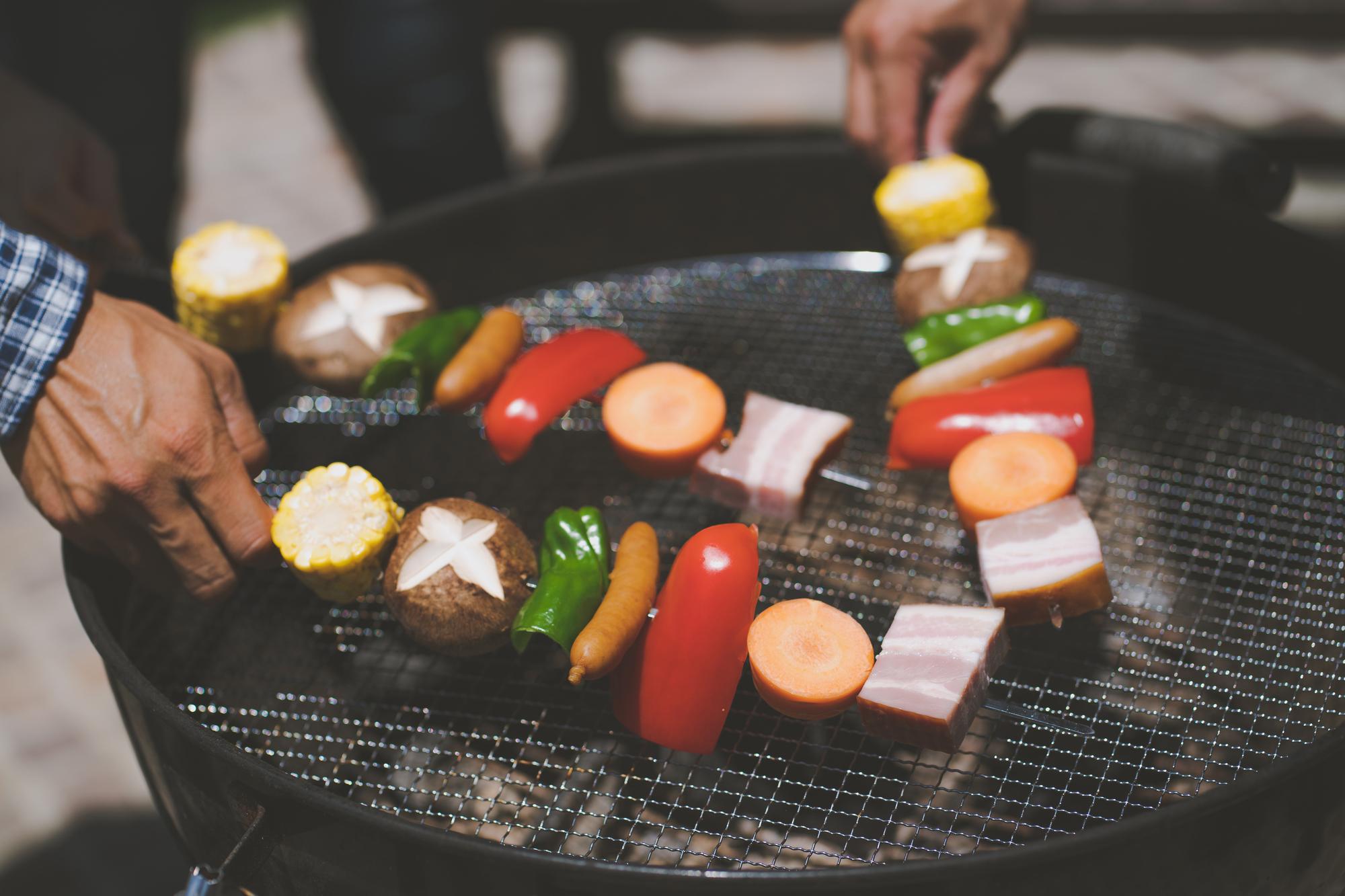 BBQの串焼き