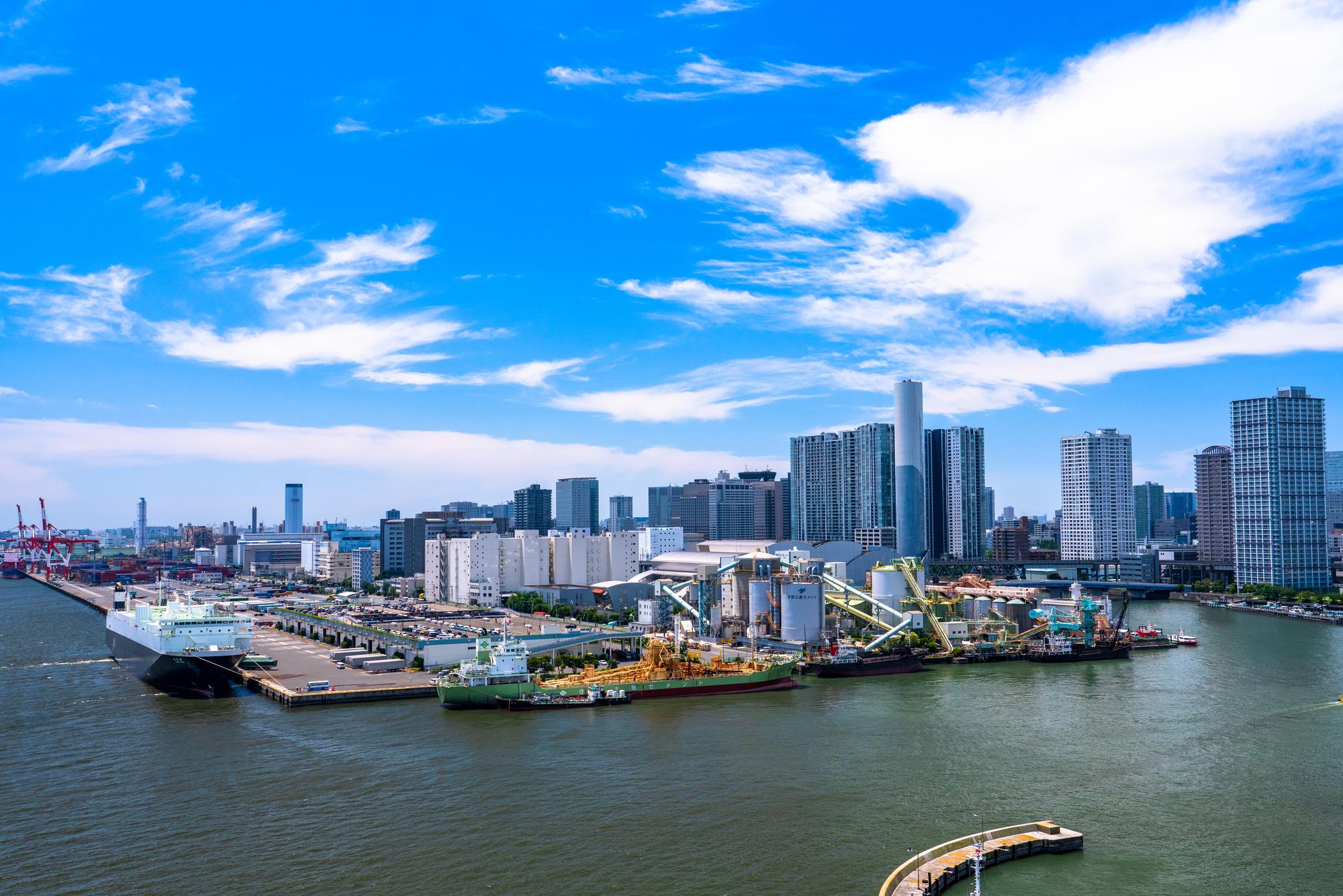 海から見る東京都市部